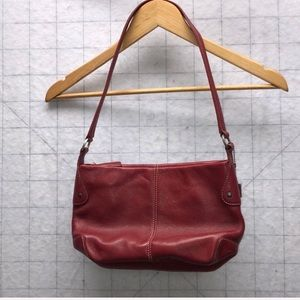 Red Leather Fossil Purse